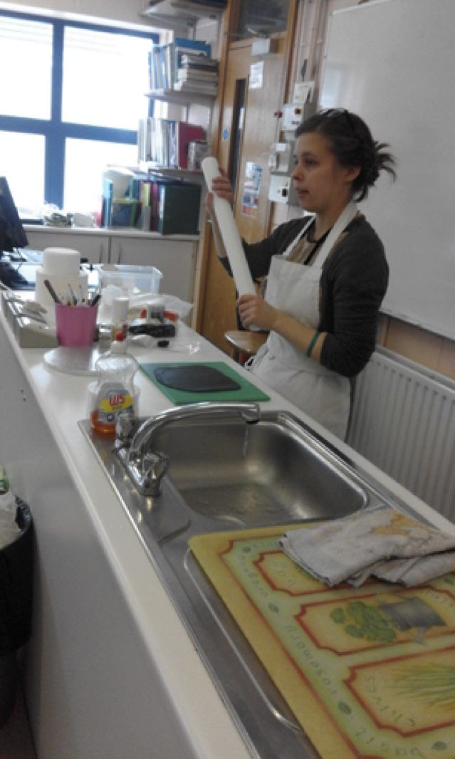 May 2017: Victoria from Bake You Sweet providing a Demonstration in Desmond College Post Primary School