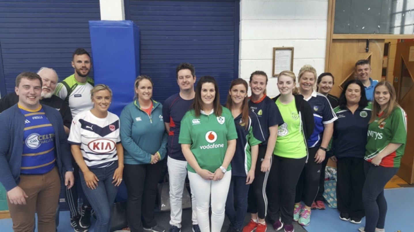 May 2017: Some of the Desmond college post primary school staff who took part in the annual teachers vs students as part of active week in desmond college