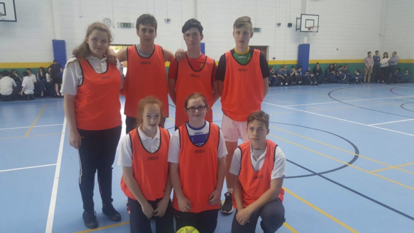 May 2017: Desmond College post primary school students taking part in the soccer tournament as part of desmond college active school week