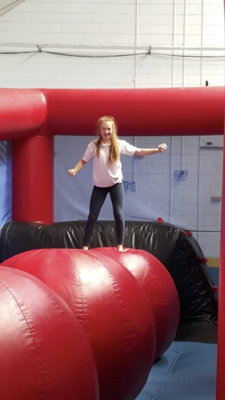 May 2017: Desmond college student on the obstacle course as part of desmond college active school week