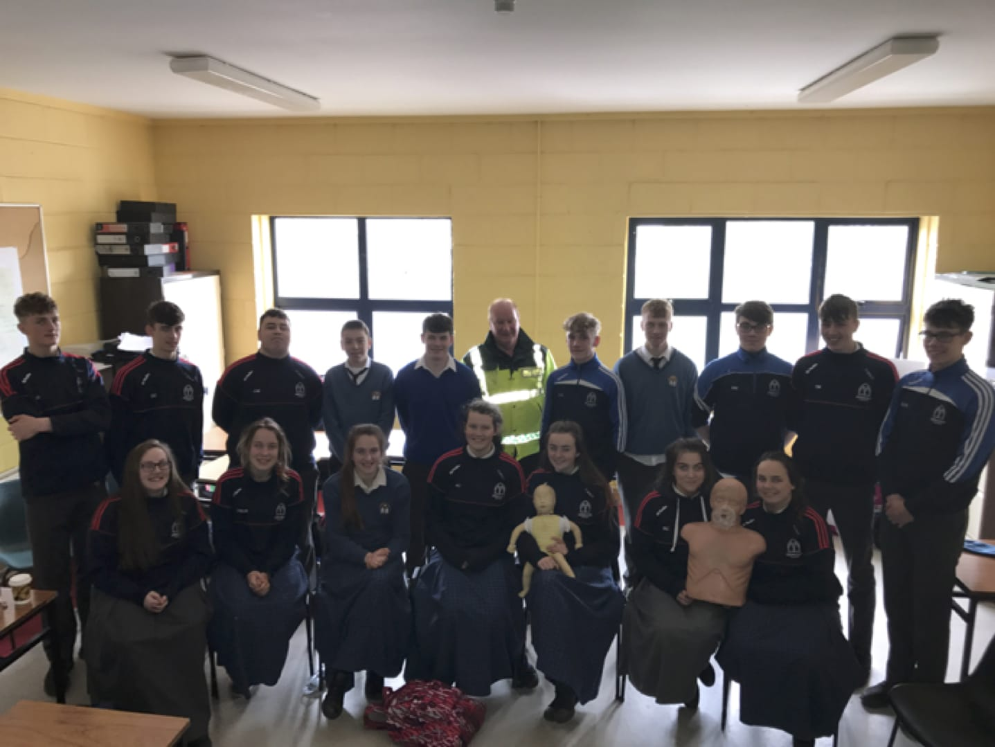 May 2017: Desmond College Transition year students complete a First Aid Course