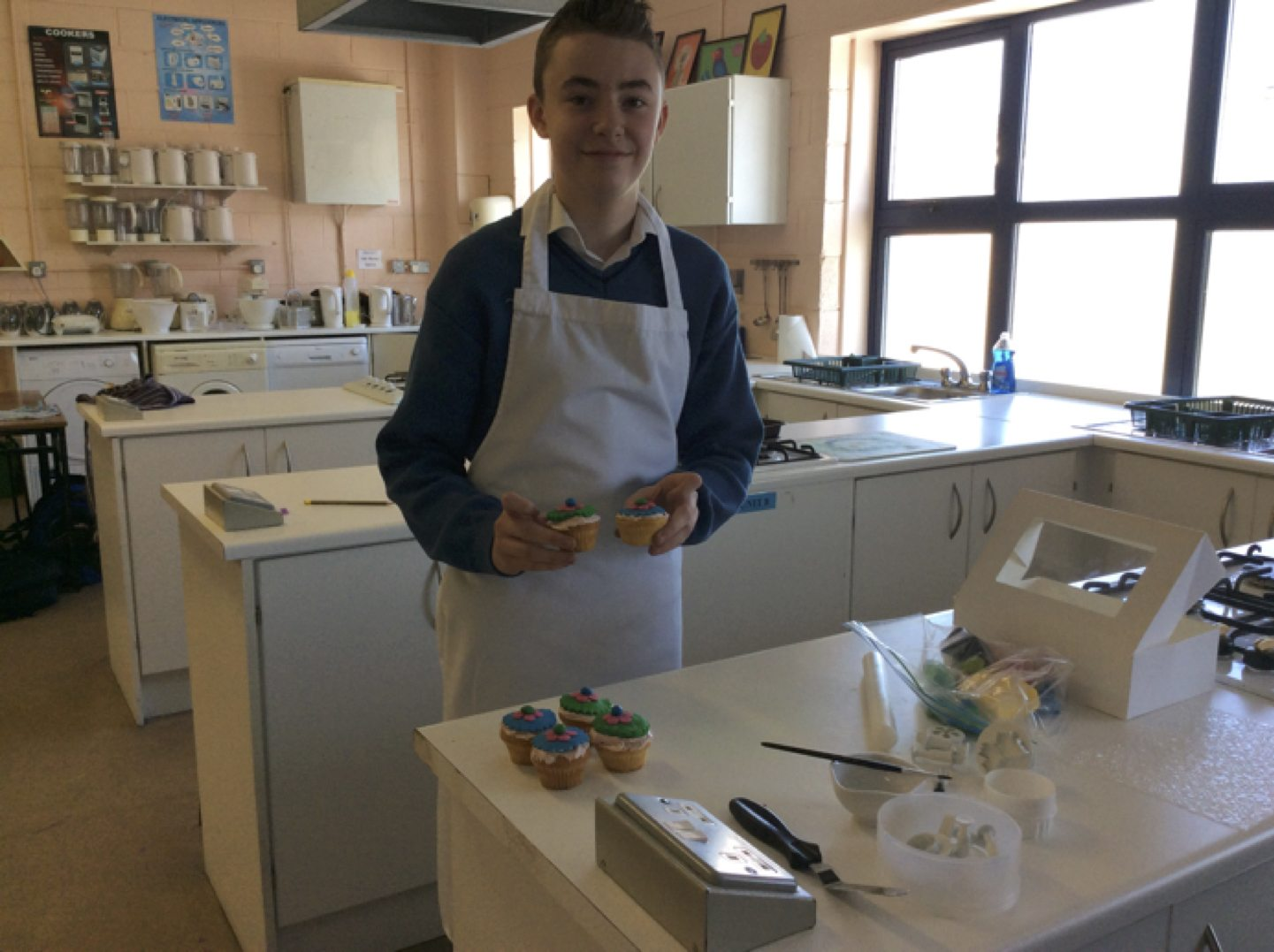 May 2017: Desmond College's Rang Fintan decorated cupcakes as part of the demonstration with Victoria from BakeYouSweet