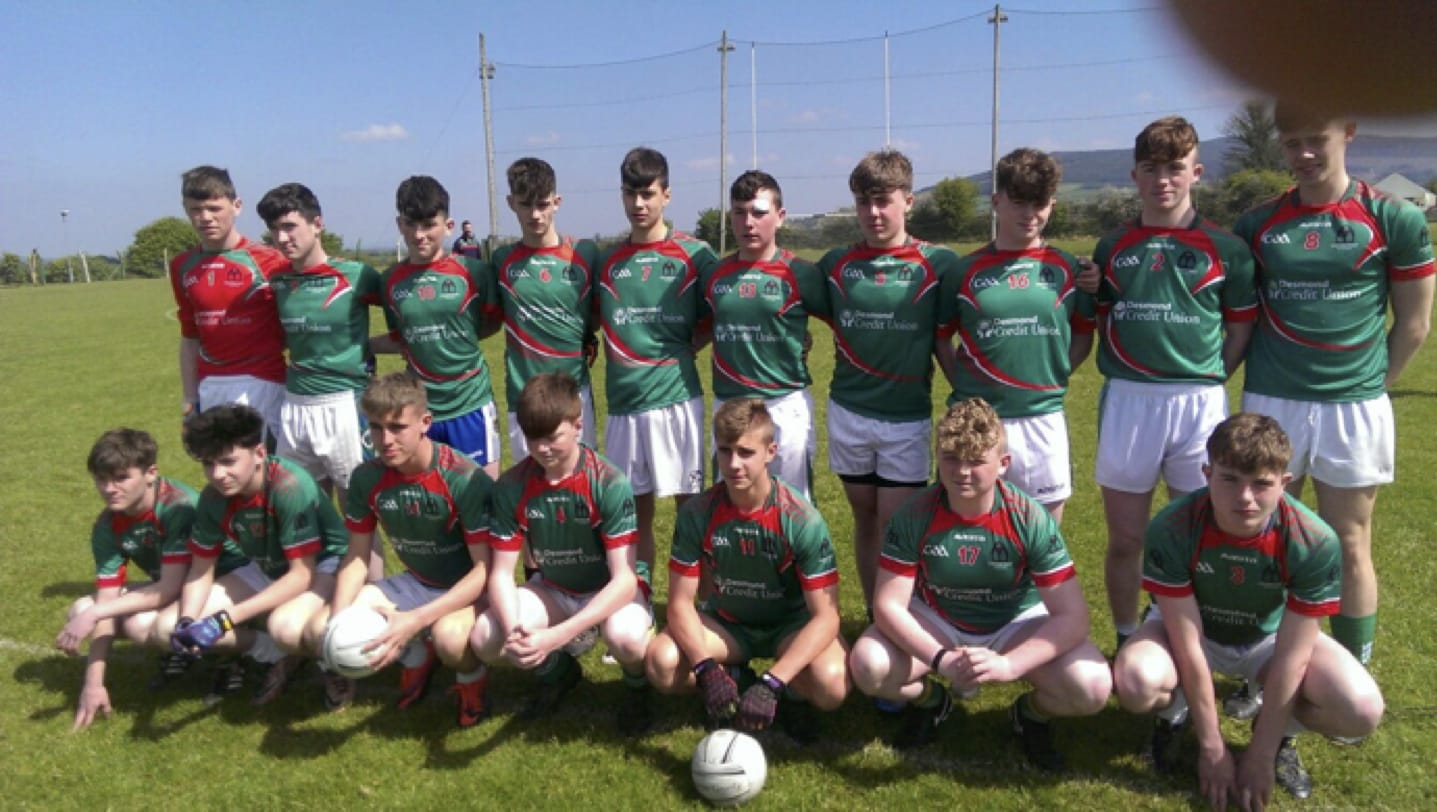 May 2017: Desmond College Post Primary Under sixteen and a half footballers in county final!