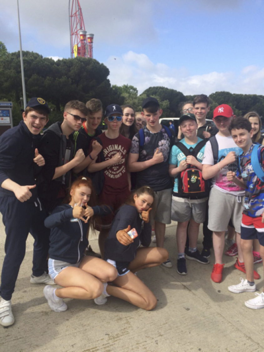 May 2017: Our Second Year students enjoying Porta Ventura in Salou
