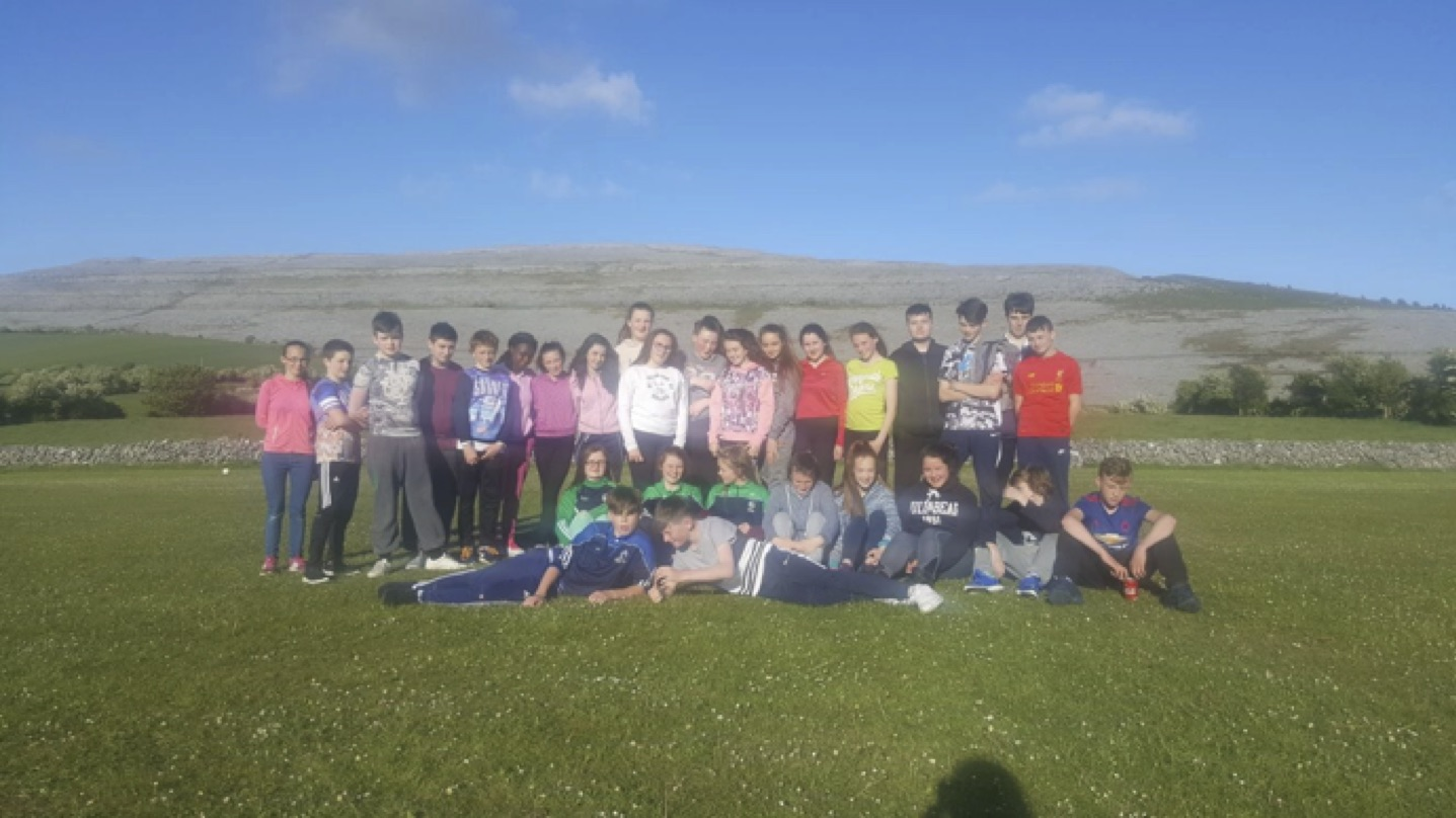 May 2017: Some of the First Year students in Desmond College on their PE trip to the Burren