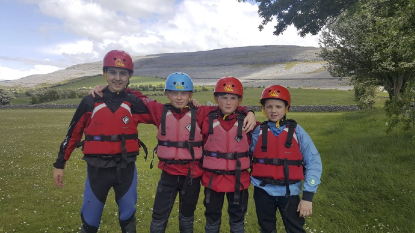 May 2017: Adam Grimes, John Colins, Conor Mulqueen and Stephen Enright on their PE trip to the Burren
