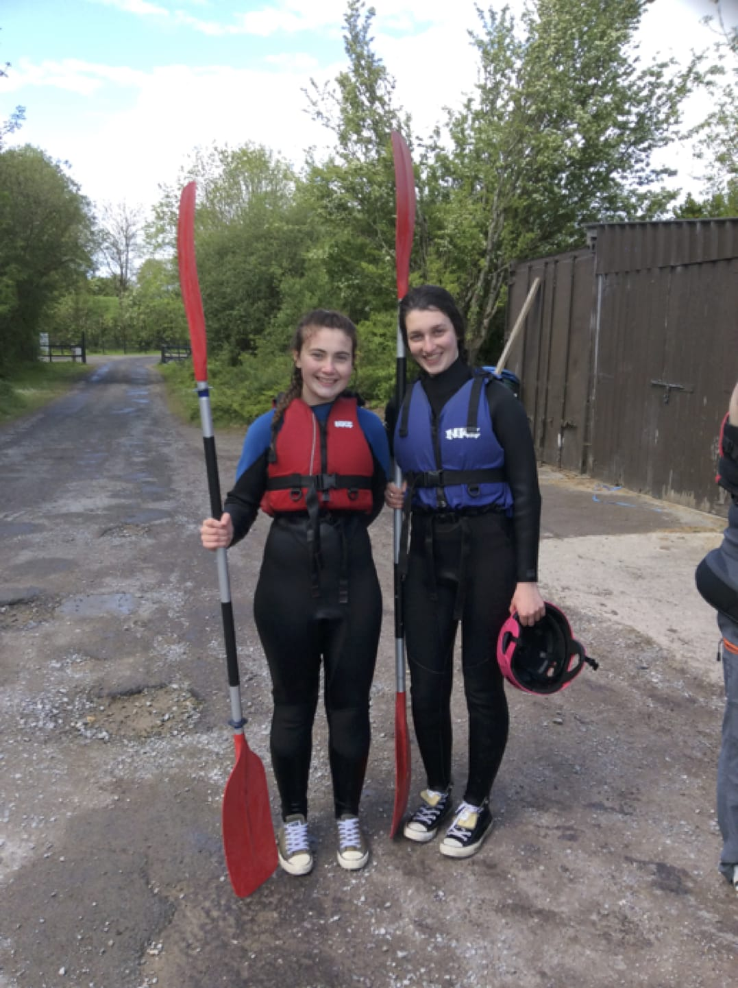 May 2017: Emma Herbert and Síun Ni Ceallaigh at Ballyhass Lakes