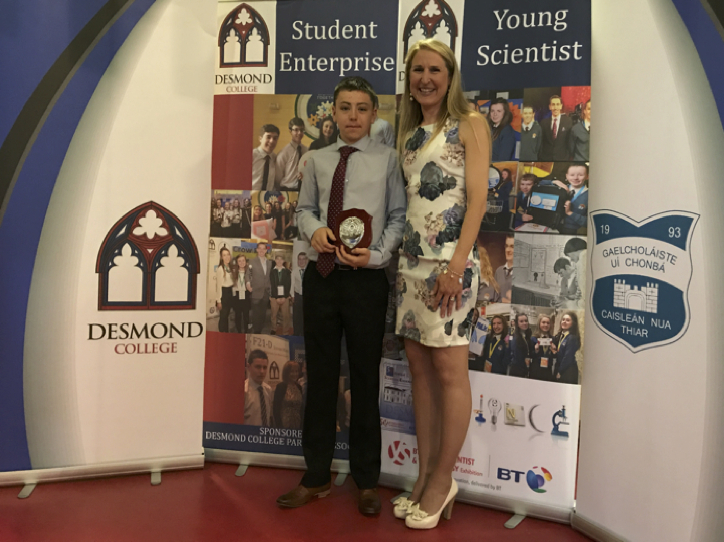May 2017: Ben McCormick receiving the Class Tutor award from Ms Kerrie Collins
