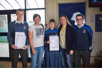 September 2017: Desmond College Students receiving their Junior Certificate Results
