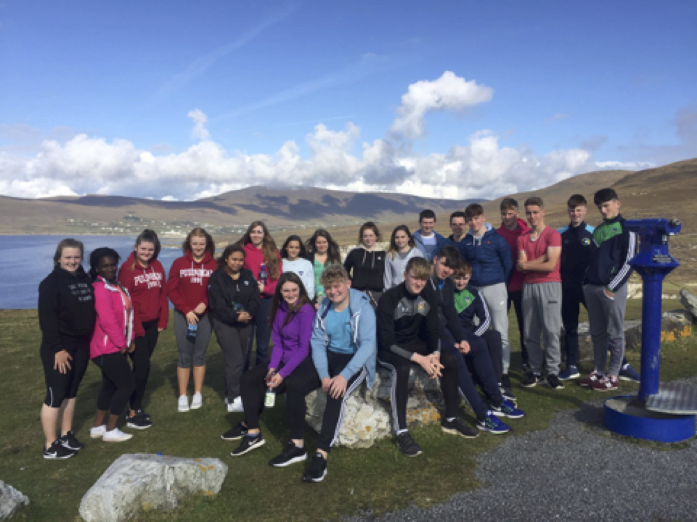 Sept 2017: Desmond College Transition Year group 2017 during their adventure trip to Achill