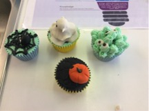 Sept 2017: A selection of the cupcakes designed by the 2nd year home economics class in desmond college