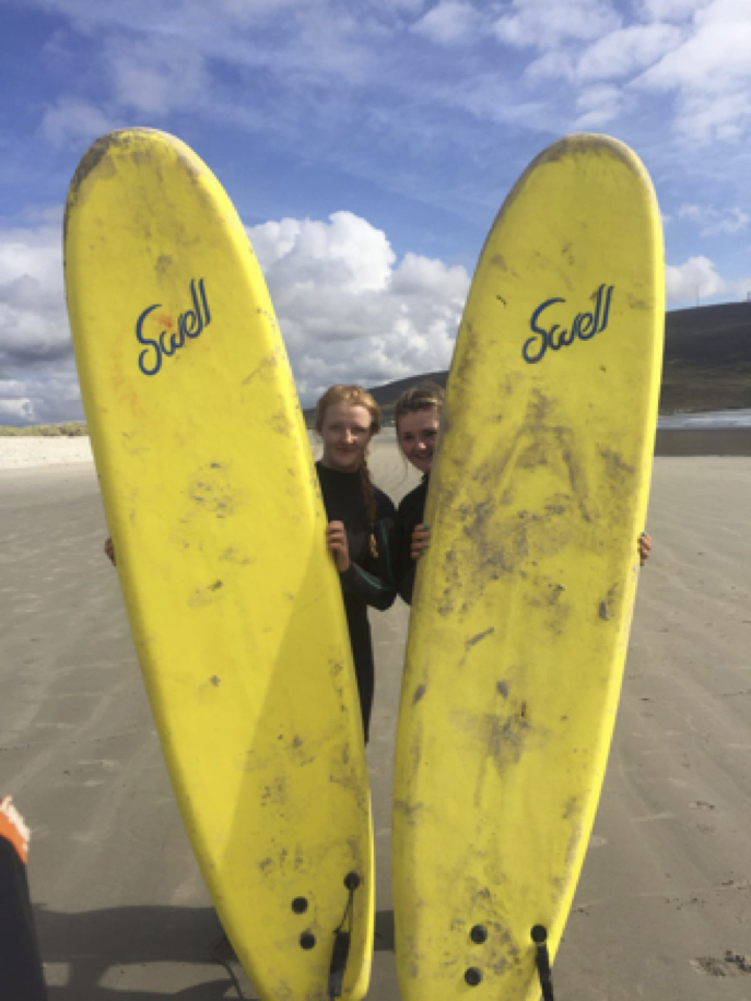 Sept 2017: Ava Cashin and Anna Guina enjoying their adventure trip to Achill