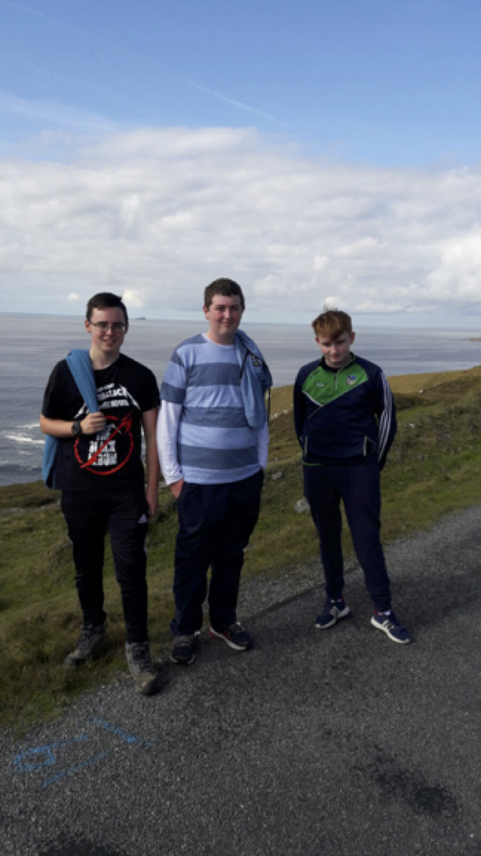 Sept 2017: James Shepherd, Evan Condon and AJ O Donovan taking a walk during their adventure trip to Achill