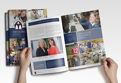 View Desmond College Brochure: Image by 4schools.ie