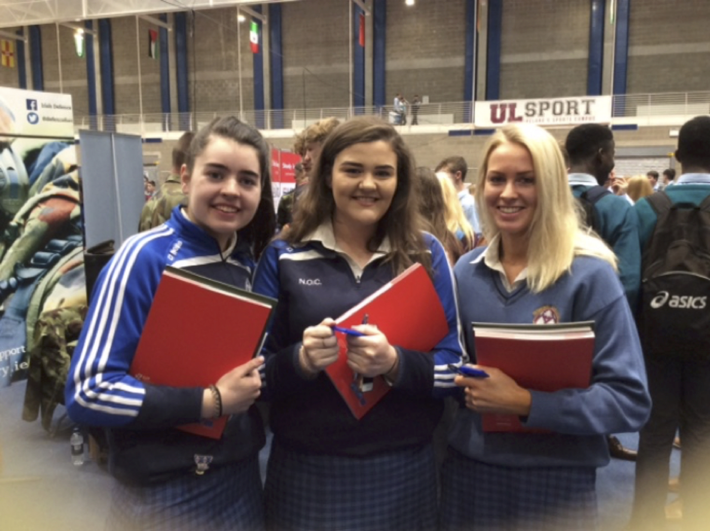 September 2017: Desmond College Leaving Certificate Students enjoying the Careers Exhibition in the University of Limerick
