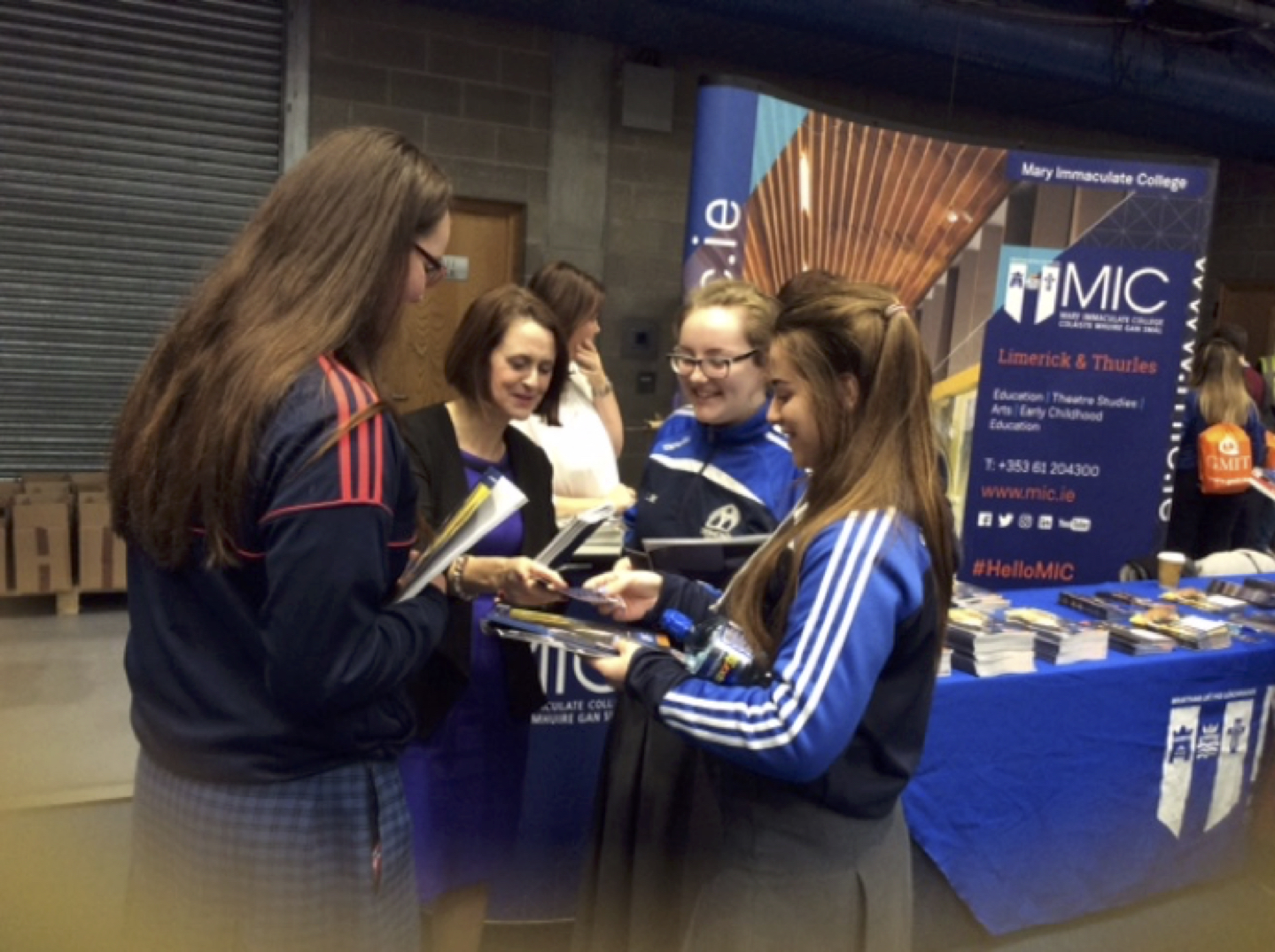 Sept 2017: Desmond College (newcastle west) Post Primary Leaving Certificate Students, getting information at the Career's Exhibition at the University of Limerick