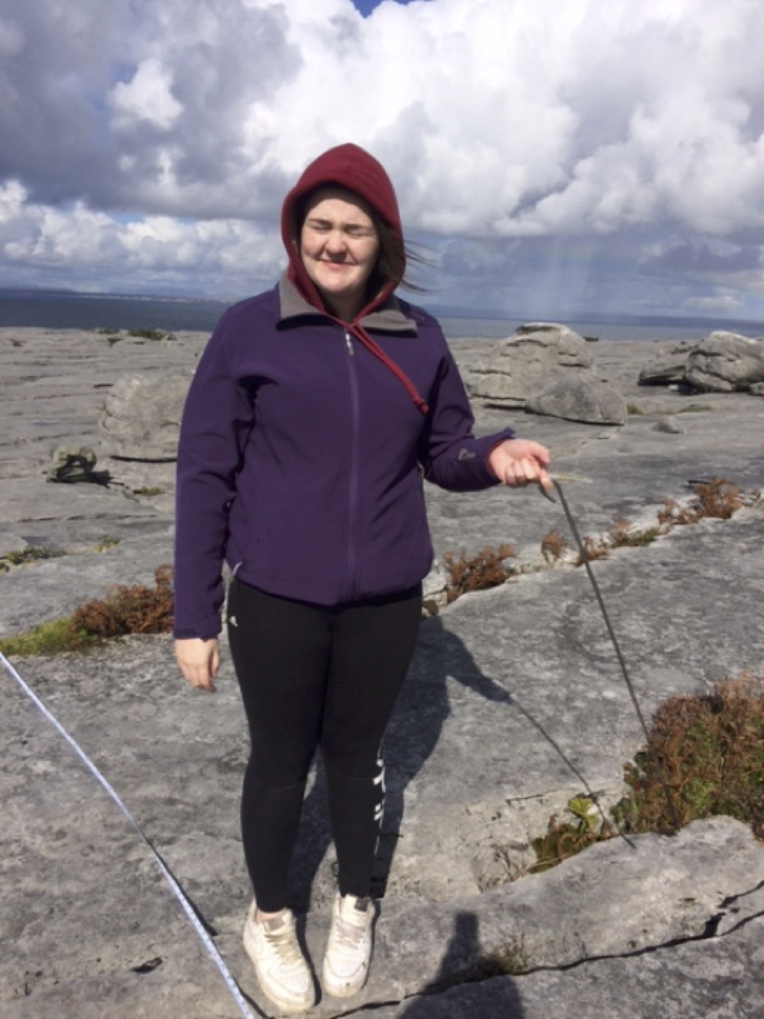 Sept 2017: Leaving Certificate Student from Desmond College Newcastle West enjoying their Trip to the Burren