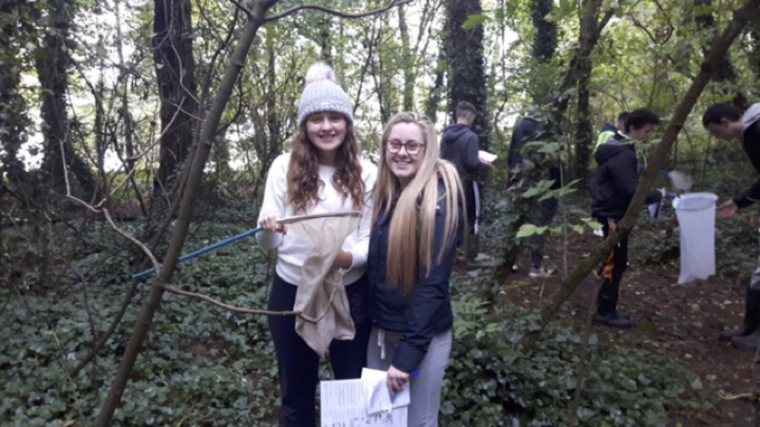 Sept 2017: Leaving Certificate Biology Students carry out a habitat study