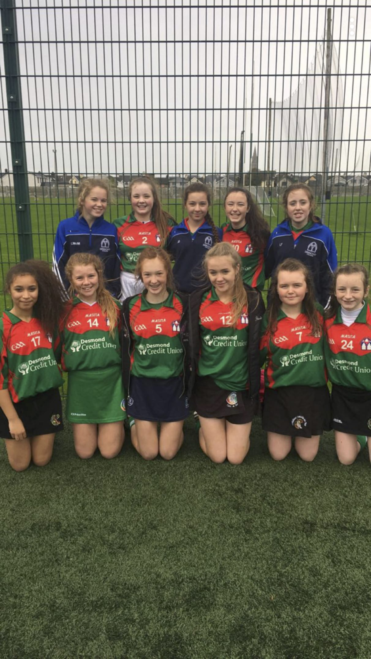 Oct 2017: First and Second Year Desmond College Camogie Team 7-a-side county blitz today in Mick Neville Park
