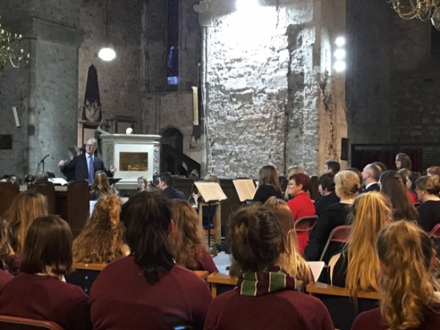 Oct 2017: Desmond College senior music students attend performance of Cantata BWV 78 Jesu, der du Meine Seele at St Mary's Cathedral in Limerick