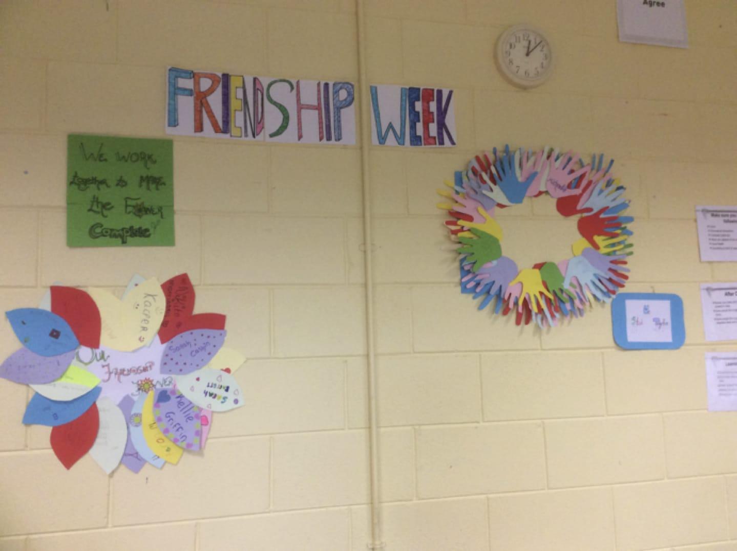 23rd - 27th Oct 2017: Friendship week in Desmond College