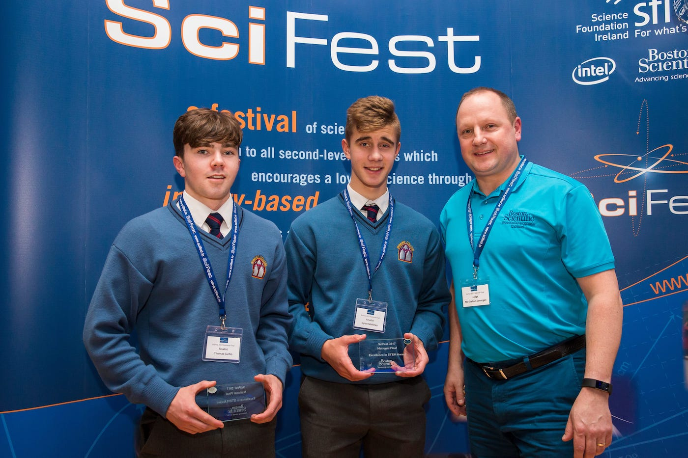 Nov 2017: Desmond College students at the SciFest national Awards