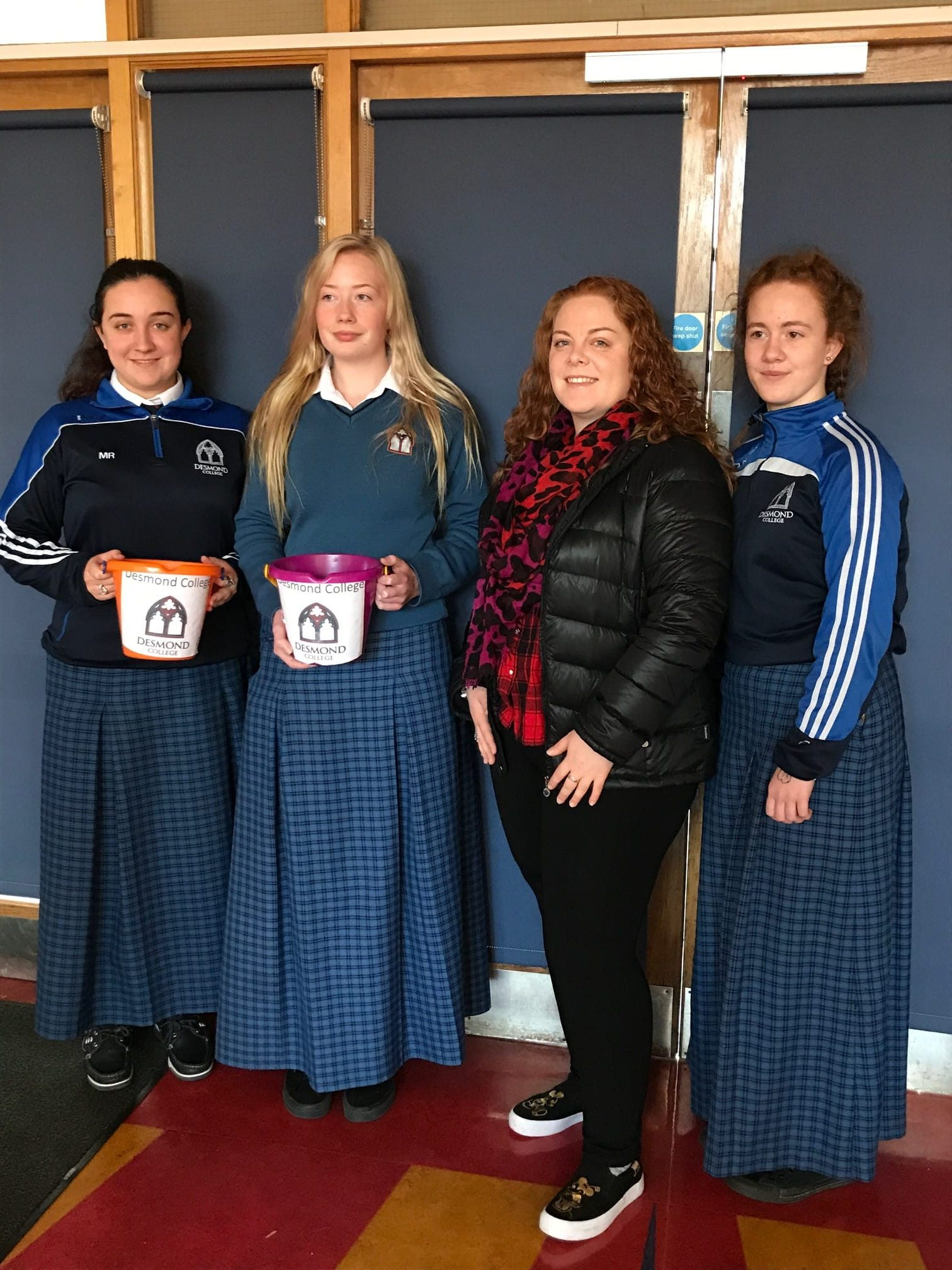 Nov 2017: Desmond College Students pictured with Bridget Philips (past pupil) who will travel to Sudan and Volunteer as a nurse