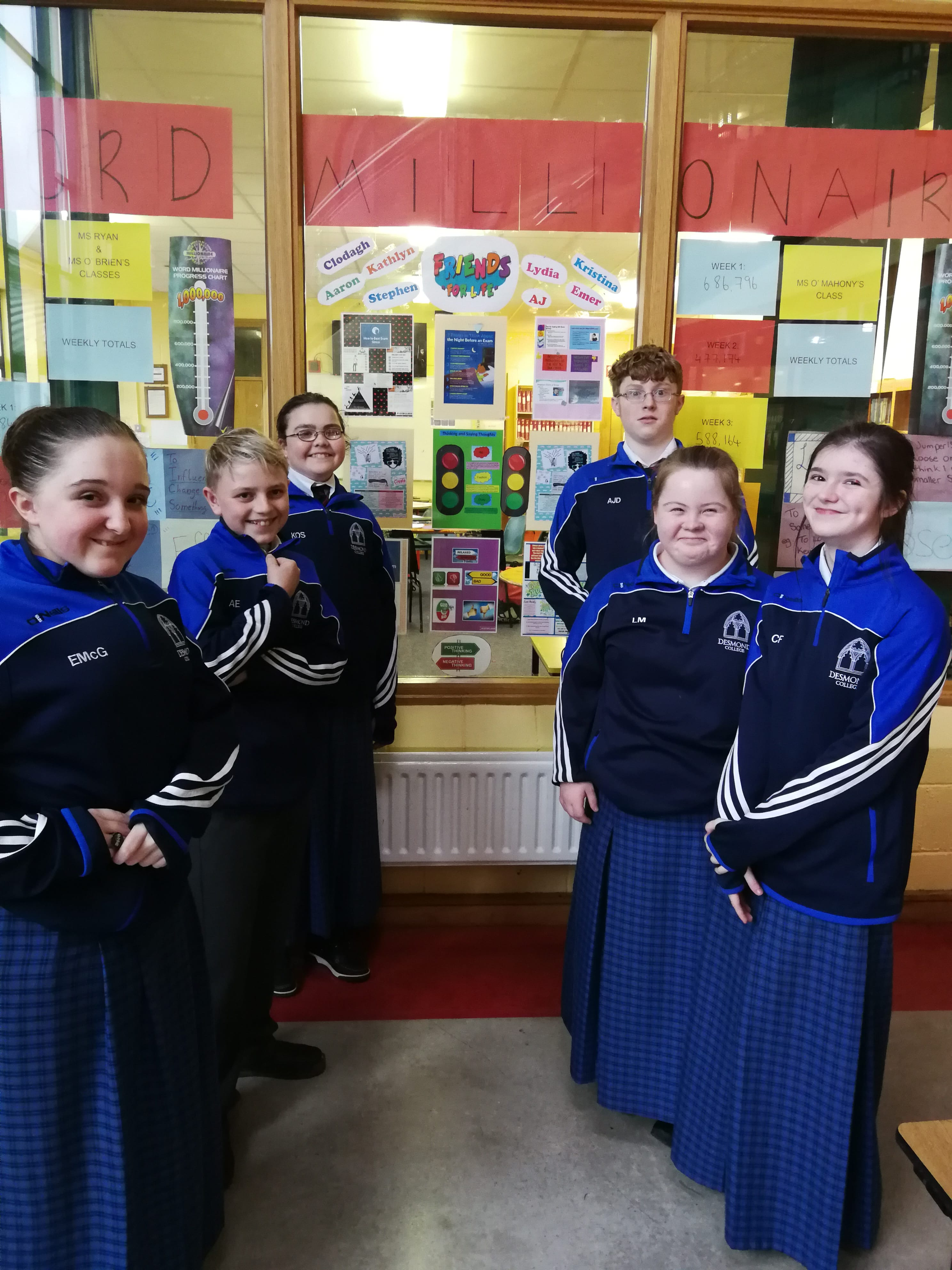 Students involved in the friends for life programme