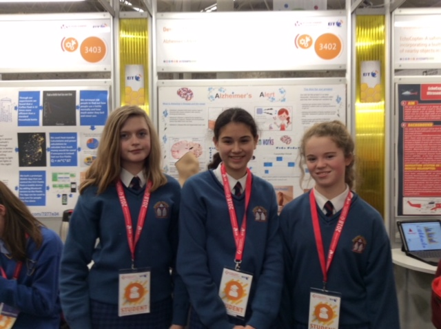 Jan 2018: Desmond College students who showcased their project at the BT Young Scientist and Technology Exhibition 2018 in the RDS Dublin