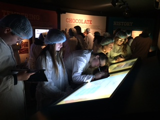 Dec 2017: Desmond College students researching the history of Butlers Chocolates