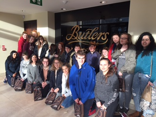 Dec 2017: Desmond College students at the Butlers Chocolate Factory