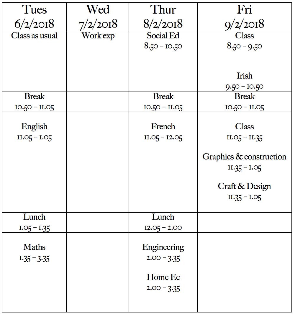 Pre-LCA Exams 2018