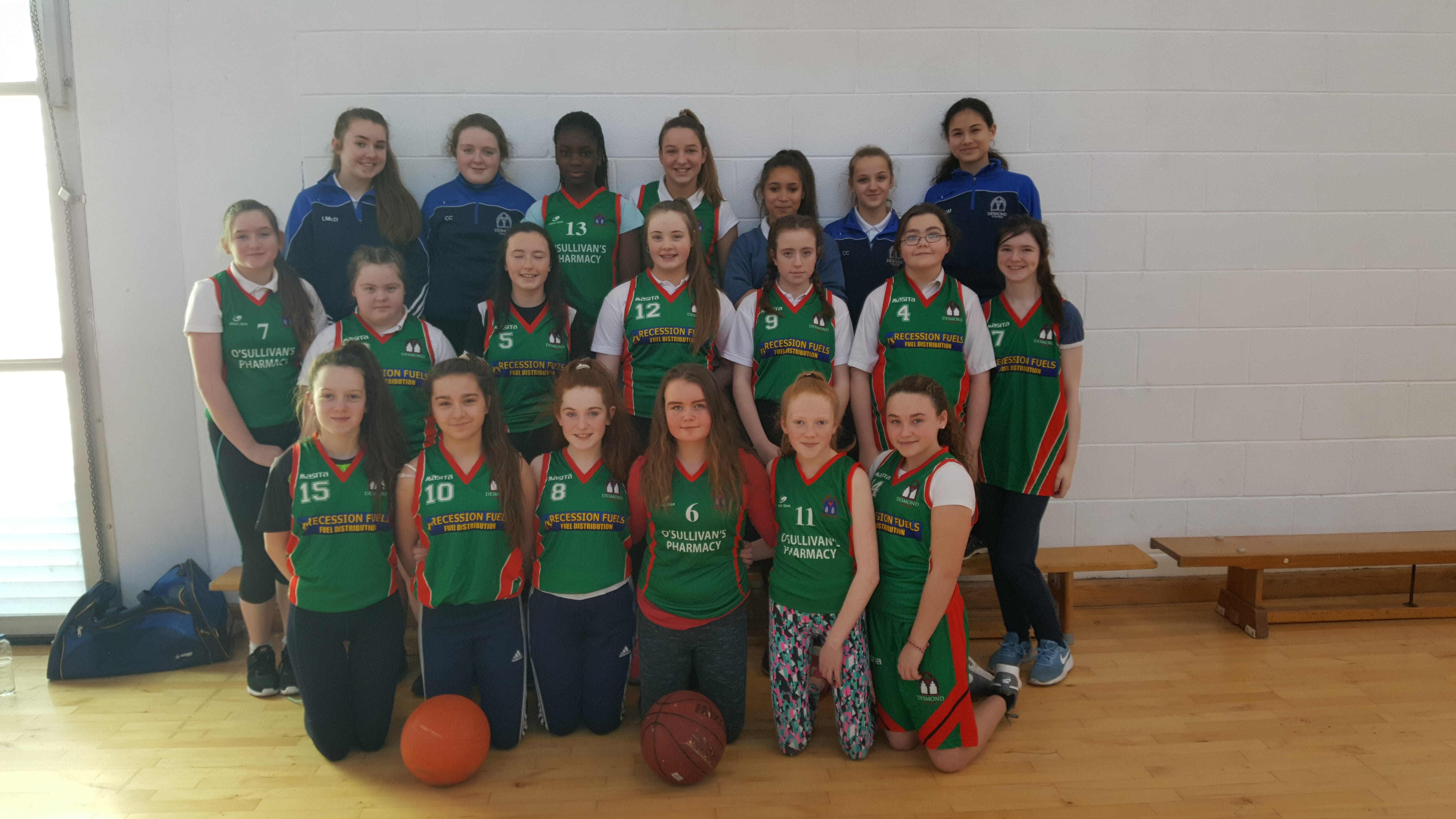 Jan 2018: Desmond College Ladies Basketball Team