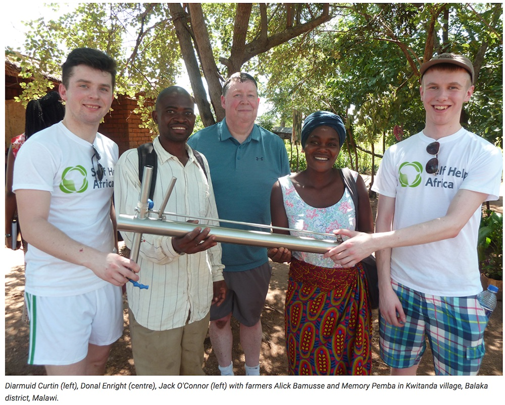 Feb 2018: Desmond College students return from study in Malawi (click to view full article in Limerick Post)
