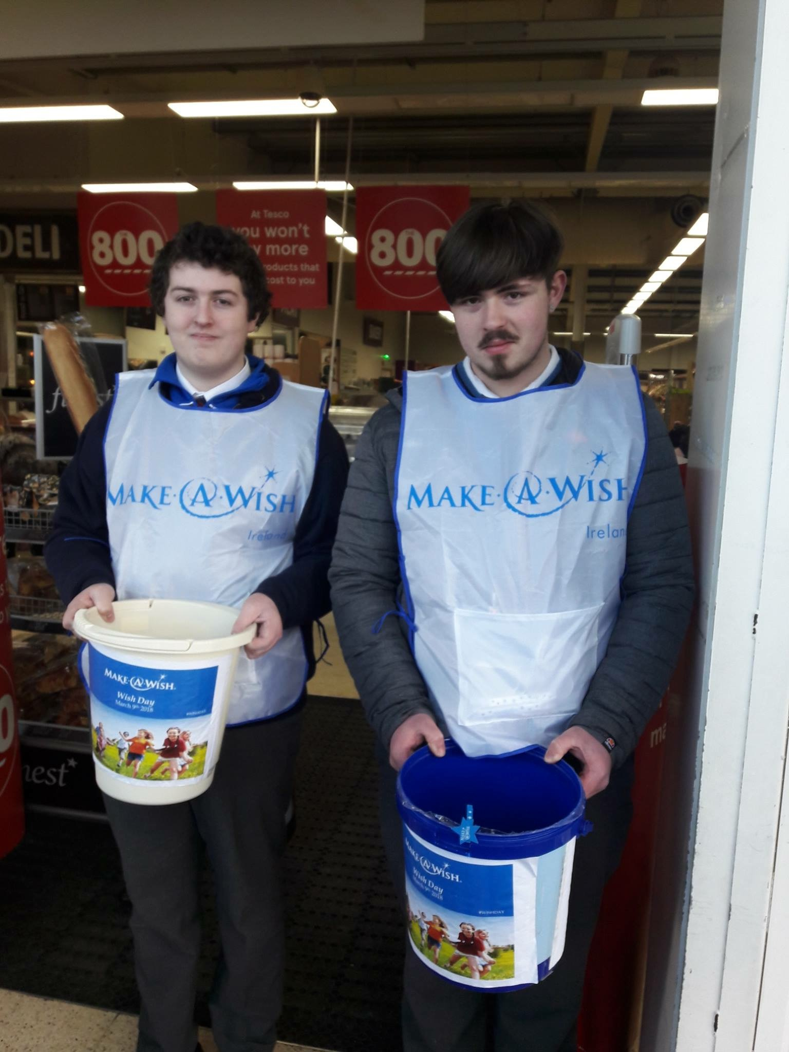 9th March 2018: Desmond College Students collect for Make A Wish Foundation