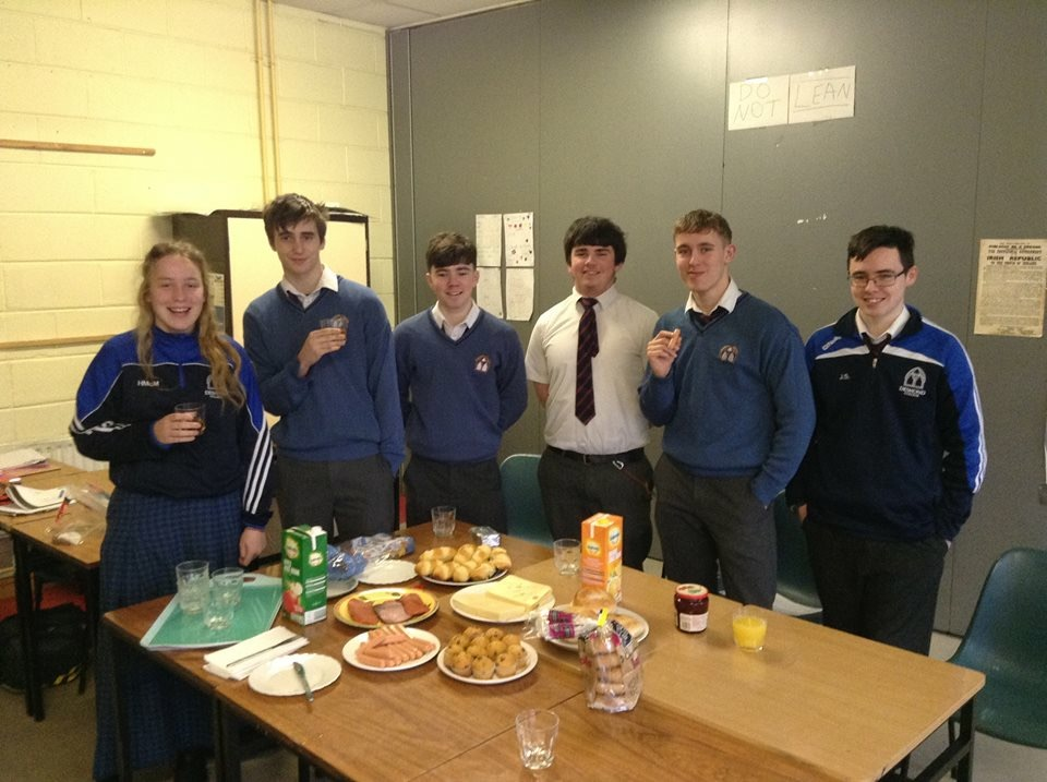 March 2018: International Week. German Breakfast with Desmond College 5th years