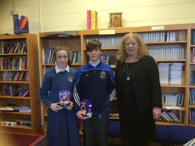 March 2018: Desmond College First Year winners in the Spelling Bee with Principal Ms. Vourneen Gavin Barry
