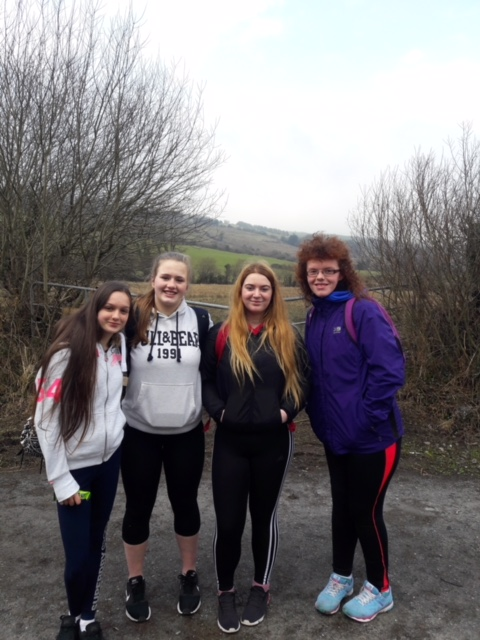March 2018: Desmond College Transition Year Students participating in Walk the School Day