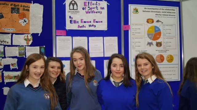 March 2018: Well done to all the Desmond College students at the PE Expo 2018