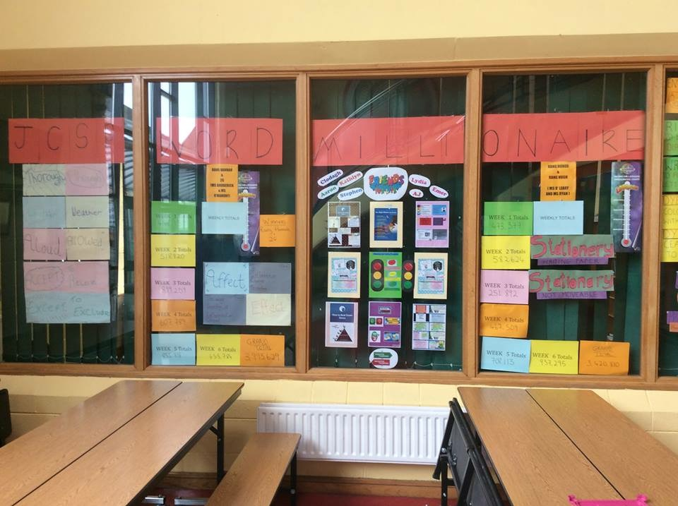 March 2018: 2nd years participate in JCSP Millionaire Word Challenge