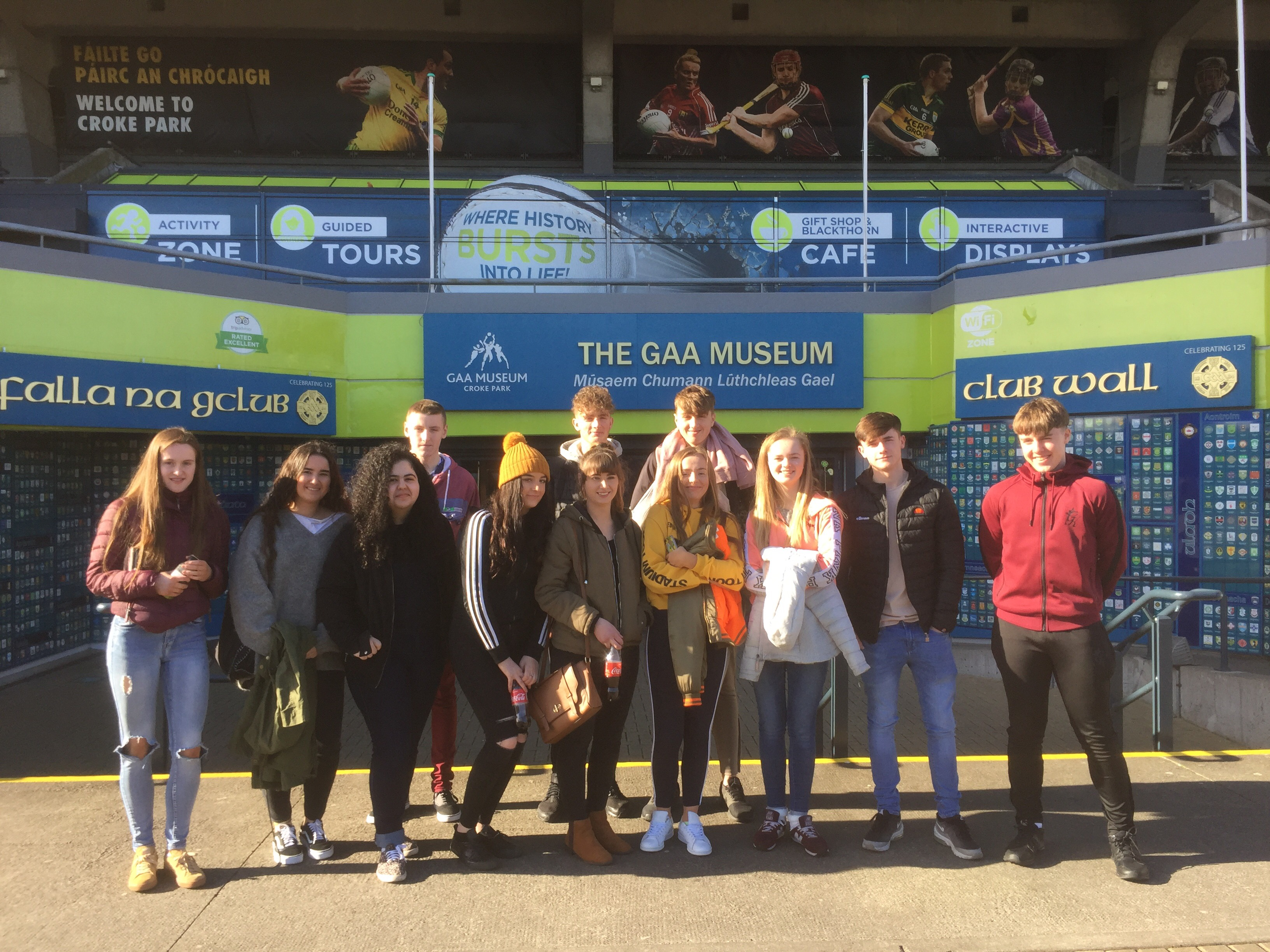 5th year students went to Dublin as part of an Irish History and Culture Trip