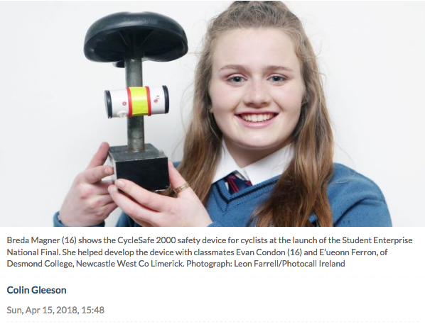 04 2018: Desmond College in the Irish Times