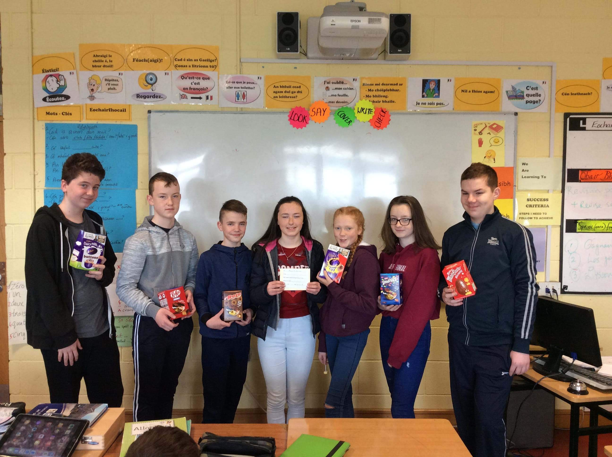 March/April 2018: Desmond College Winners of the Junior and Senior French CSI Competition