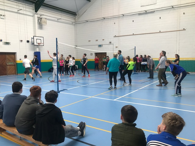 April 2018: The Annual Teachers vs 6th year Students VolleyBall Game