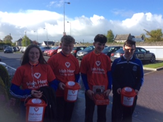 May 2018: TY Students collecting for the Irish Heart Foundation