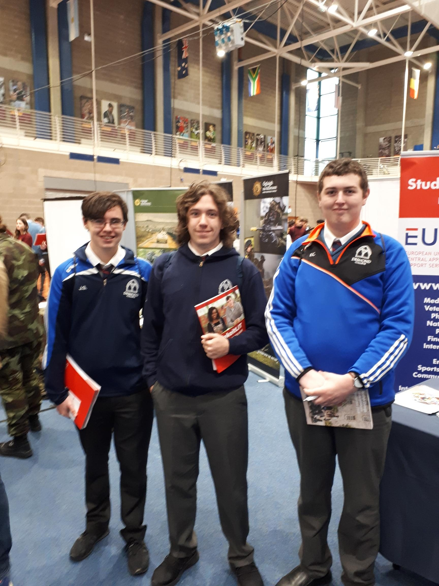 Sept 2018: Desmond College 5th year Students in University of Limerick at Careers Expo