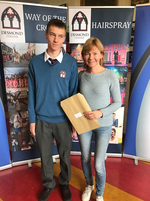 2018: Delighted Desmond College students receive their Junior Certificate results