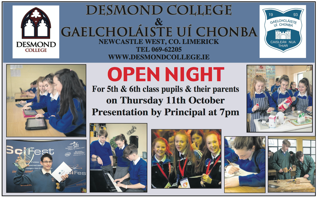 Open Night for Limerick Secondary School 2019