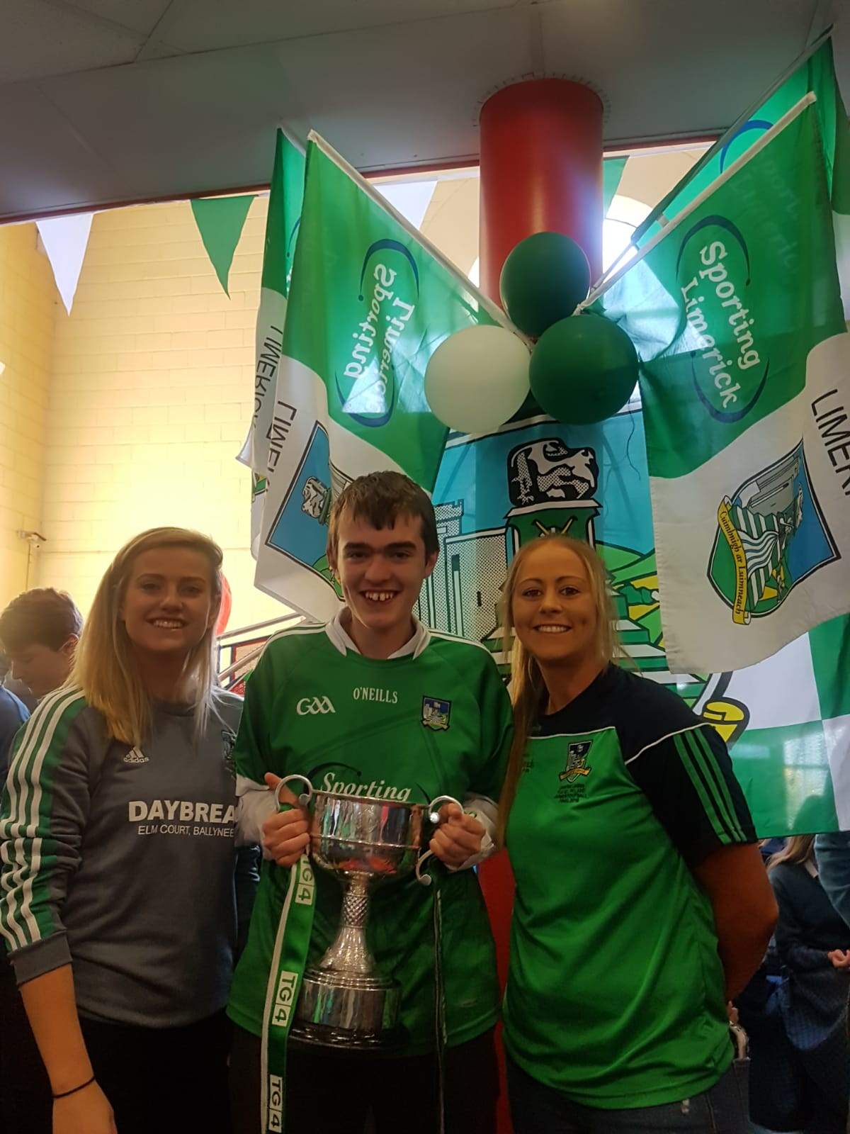 Desmond College and Colaiste are visited by All Ireland Football Champions and past pupils, Catriona Davis and Rebecca Delee