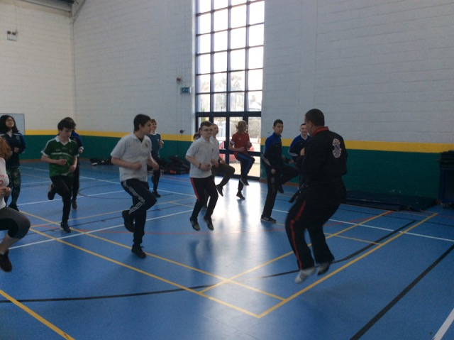 Oct 2018: Desmond College Transition Year students participate in a Tae Kwon Do class